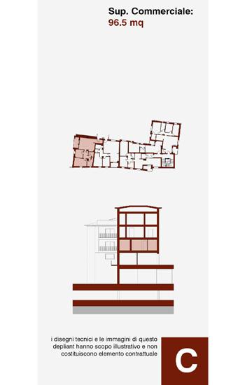Appartamento di civile abitazione, posto al primo piano dell'edificio C