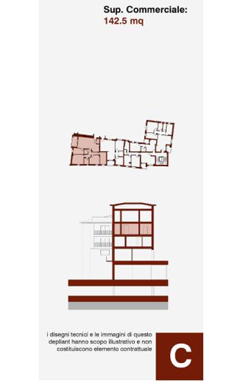 Appartamento di civile abitazione posto al secondo piano dell'edificio C