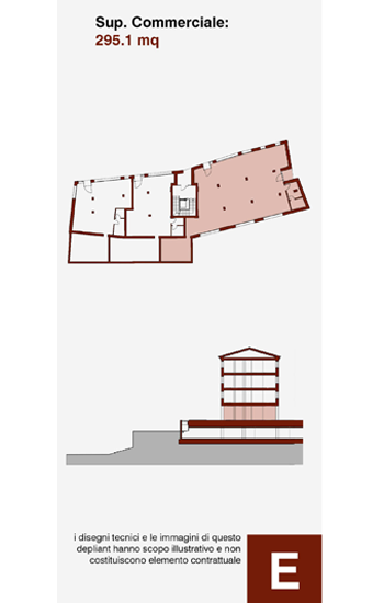 Fondo ad uso commerciale, posto al piano -1 dell'edificio E