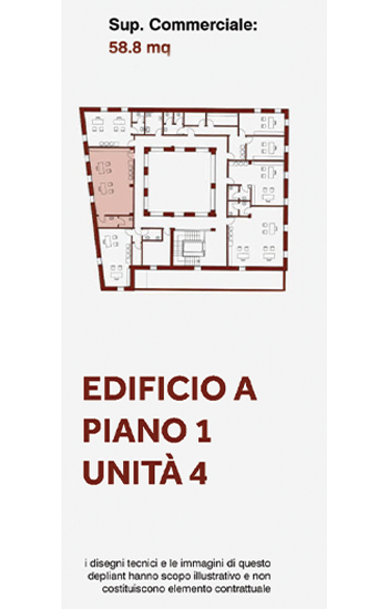 Unità immobiliare, uso ufficio, posta al primo piano lato ovest dell'edificio A