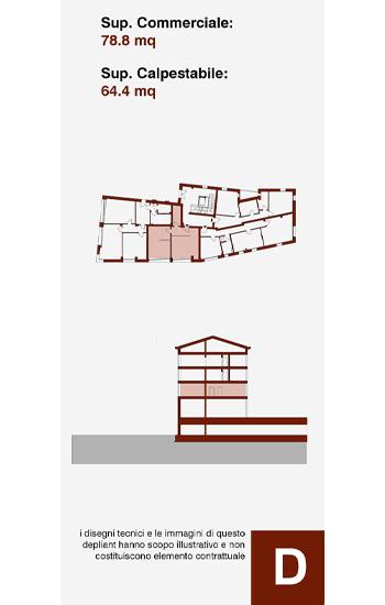Unità immobiliare ad uso direzionale, posta a piano terra sul lato sud dell'edificio D